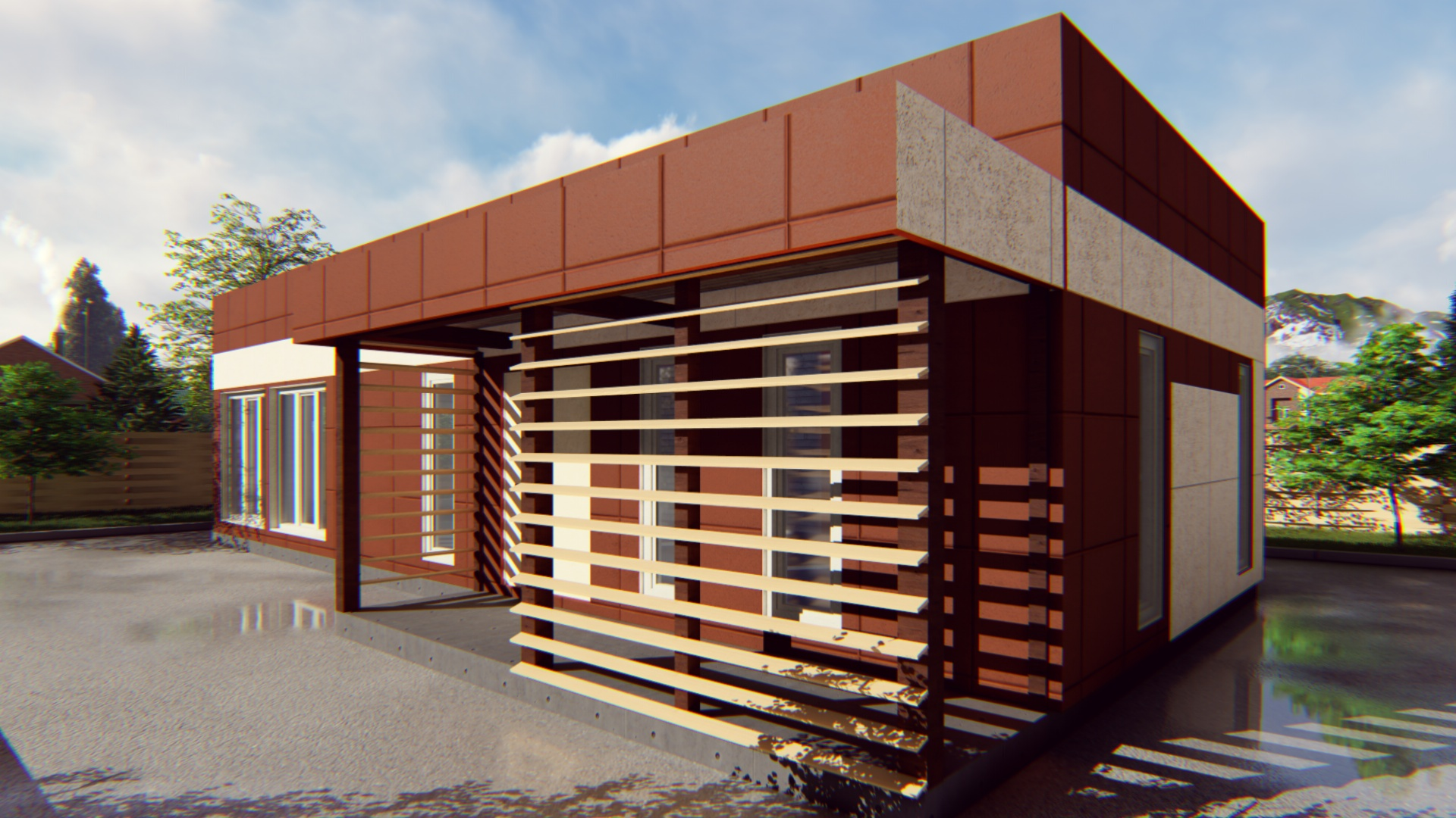 Проект павильона из СИП-панелей